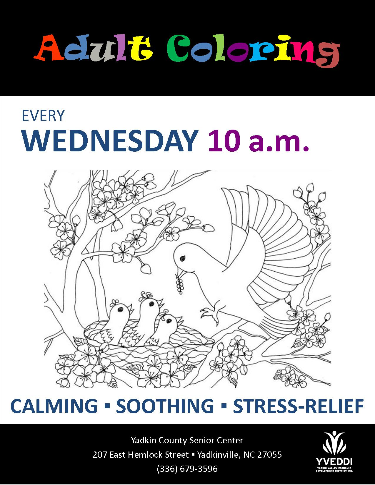 Yadkin county senior center for Flyers coloring pages